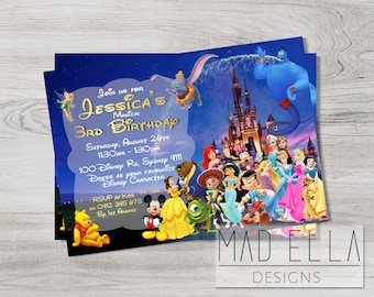 Disney birthday Etsy