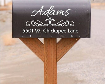 Custom Personalized Vinyl Mailbox Decal | Address Decals, Home, Office, Business Decor, 15x7.5 | 40+ Colors Available to Choose From!