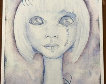 Original Watercolor- Ghost