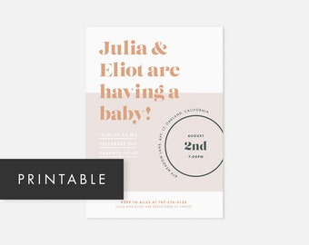 Printable Couples Shower Invitations / Printable Baby Shower Invitation / DIY Baby Shower Invite / Baby Shower Invitation Gender Neutral