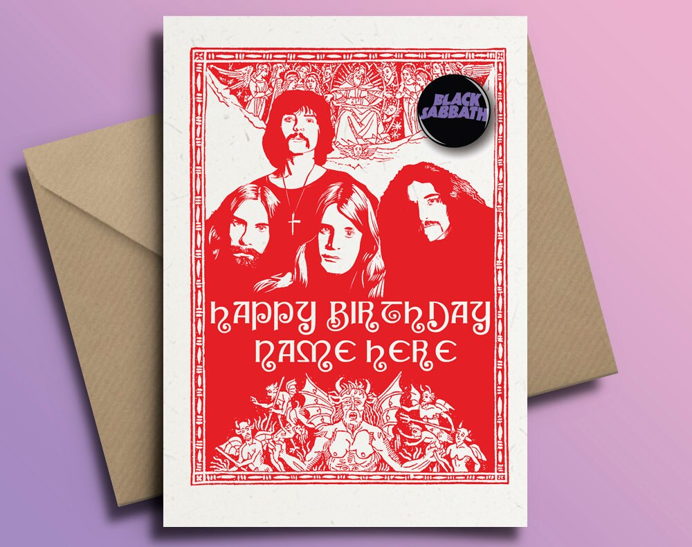 Black Sabbath Ozzy Osbourne Heavy Metal Personalised Birthday