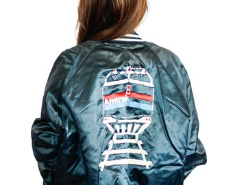 Vintage AMTRAK bomber jacket LARGE