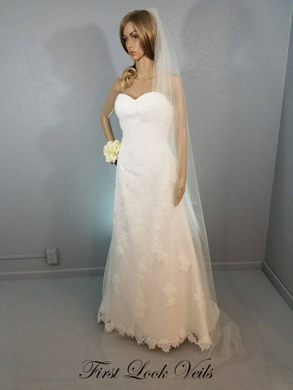Wedding Veil, Bridal Veil, Chapel, Handmade, Bride, Accessory, Gift