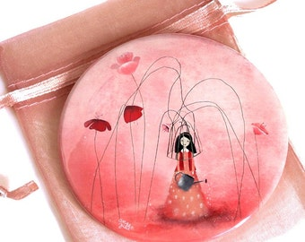 A Life with Flowers - Pocket Mirror