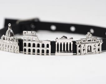 Rome Charms CityMania - Leather Bracelets - Charms for Bracelet - Gift for Traveler Italy