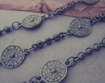 3.15ft  Fancy Metal Chain of Antique bronze chain 15mm