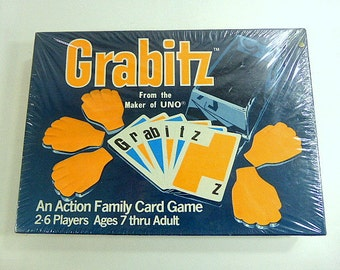 Vintage Grabitz Family Game From Makers UNO New Unopened Box Game Night Low Tech Vintage Card Game Children Adults International Games Inc