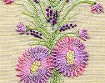Knotted Lazy Daisy Brazilian embroidery kit #5104 - EdMar threads/choose color