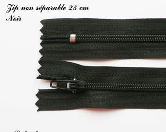 1 simple not separable 25 cm zipper: black