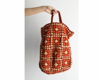 60s Crochet Tote Bag