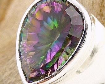 QUARTZ Mystic, Mystic quartz, mystic quartz jewels t 54 7av87.4 us jewelry ring