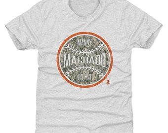 Manny Machado Youth Shirt | Baltimore Baseball | Kids T Shirt | Manny Machado Camo O