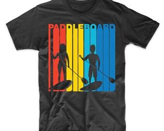 Retro 1970's Style Paddleboard Paddleboarding T-Shirt