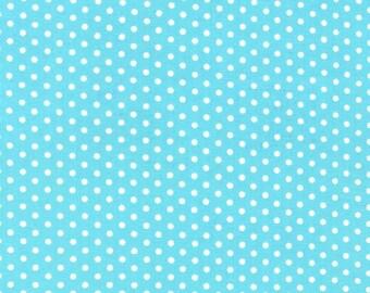 Spot On Aqua Mini Dots From Robert Kaufman