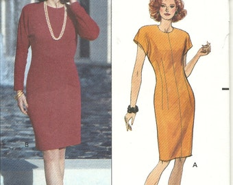 Butterick 5632   Misses Fitted Dress    Size 6,8,10   Uncut