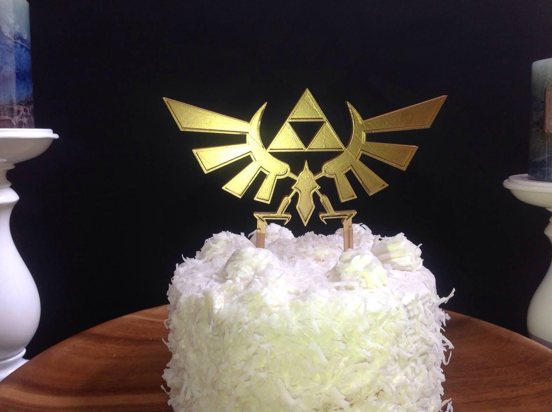 Legend of zelda hyrule crest triforce cake topper description perfect cake topper biocorpaavc Images
