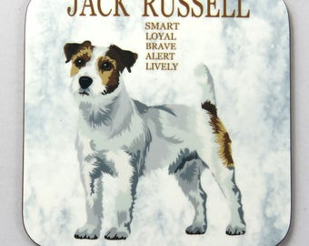 Jack Russell Dog Coaster, Drinks Coaster, Jack Russell Owners Gift