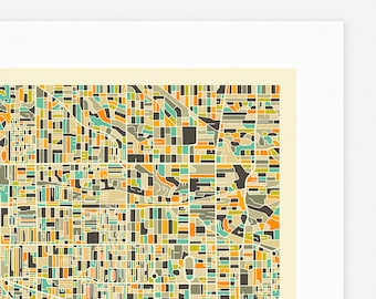 TORONTO MAP (Giclée Fine Art Print/Photo Print/Poster Print) by Jazzberry Blue (ivory version)