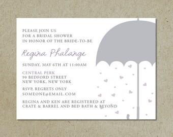 modern bridal shower invitation / shower with love