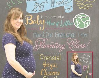 Custom Weekly Pregnancy Photo, Weekly Sign, Montly Pregnancy Sign, Pregnant Prints, Baby Bump, Weekly Baby Poster