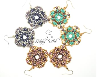 Earrings Vitral- beading pattern