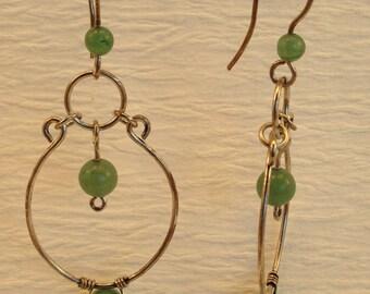 Sterling Silver Earrings. Silver Boho Earrings. Silver Gypsy Earrings. Silver and Stone Earrings.