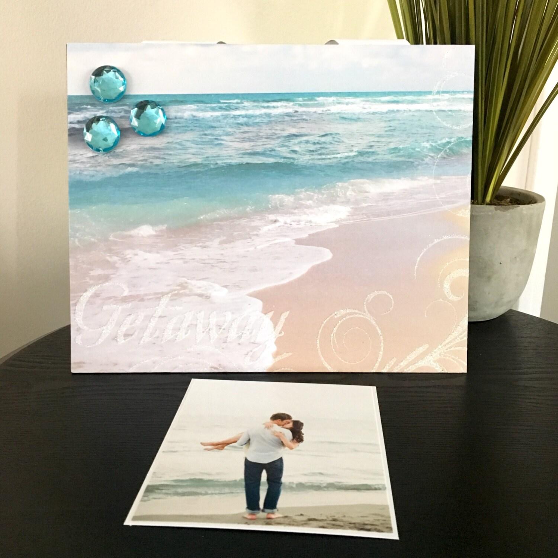 Cuadro marco magnético regalo Casa Decor foto 5 x 7 9 x 11 Playa ...
