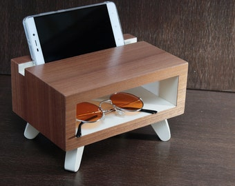 mothers day, charging station, gift for her, desk accessories, Anniversary womens gift, ipad iphone stand, docking station, desk organizer