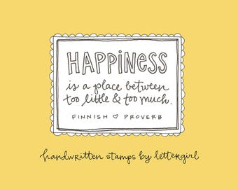 Happiness Stamp: Handwritten Quotation, Snail Mail