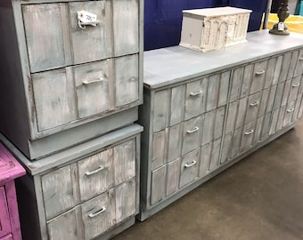 Mid century dresser and two nightstands