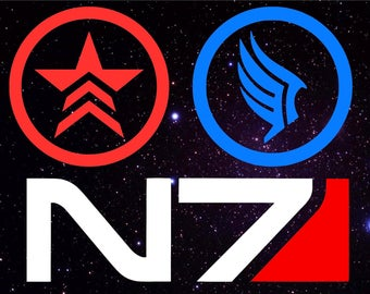 Mass Effect vinyl decals, Paragon Decal, Renegade Decal, N7 Decal, Bioware Decal, Commander Shepard Decal, FemShep, Yeti, Tumbler, Sticker