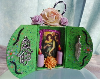 Astarte Matchbox Shrine Ornament.