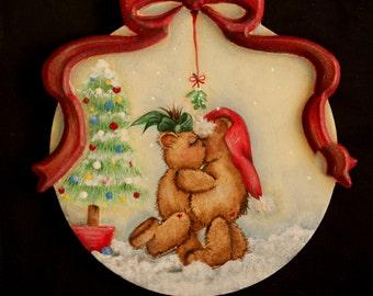 Mommy Kissing Santa painting pattern