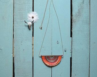 Necklace plastron, hippie necklace, hippie style, hippie jewelry, bib sequin embroidered bib