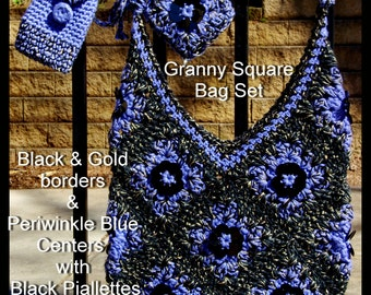 Granny Square Bag Set!! One of a Kind Design!!!