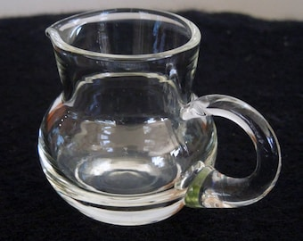 Unique Mini Clear Glass Pitcher