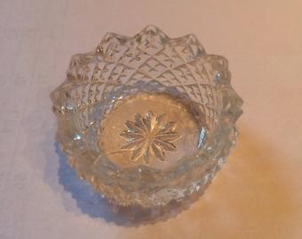 Antique Cut Glass  Salt Dish
