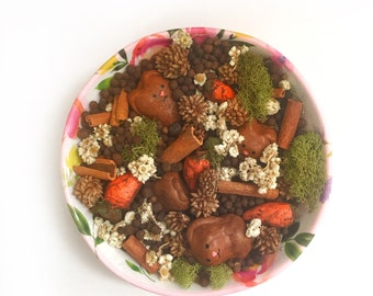 Potpourri Bowl Filler Bunnys and Carrots - Primitive Kitchen Decor - Spring Bowl Filler - Easter Potpourri - Spring Easter Decor