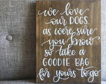Dog Treat Wedding Sign | Dog Sign | Love Dogs