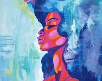 "African American art poster print ""Magical"""