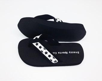 Leather Soccer Flip Flops