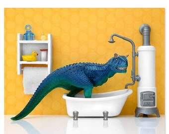 30% OFF SALE Dinosaur decor wall art print: Scrub