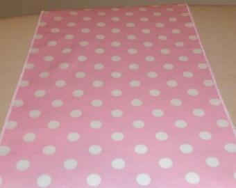 11 x 72 Inch Pink Polka Dot Table Runner