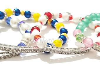 Sorority Bracelet, Team Bracelet, Stretchy, AKA, DELTA, SIGMA, Women, Sisters, Handmade Custom Beaded Jewelry
