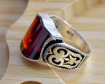 Mens ruby ring Etsy