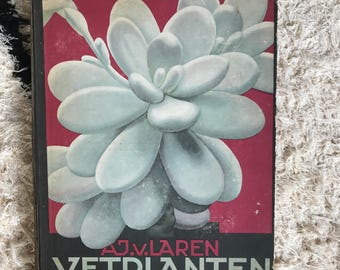 Vintage Dutch Verkade Xerophyte or Succulent plant card collecting book - 1932