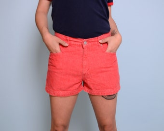 Vintage Red LEVIS High Waisted Shorts 29W