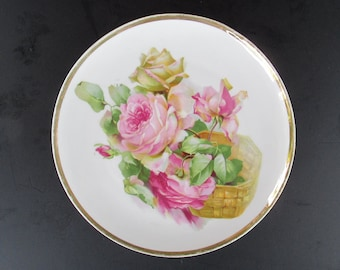 Z.S.C. Bavaria Hand Painted Porcelain Wall Plate