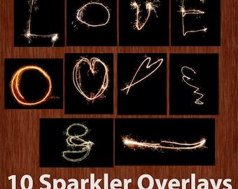 10 Sparkler Overlays