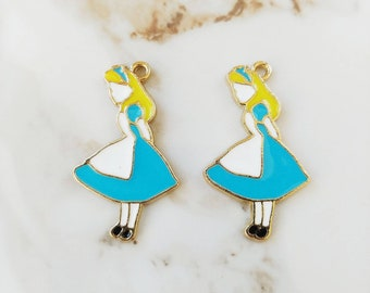 Alice in Wonderland Charm // 1 or 2 PCS